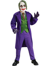 View Item Child The Joker Deluxe Fancy Dress Costume Batman Dark Knight Rises Kids Boys