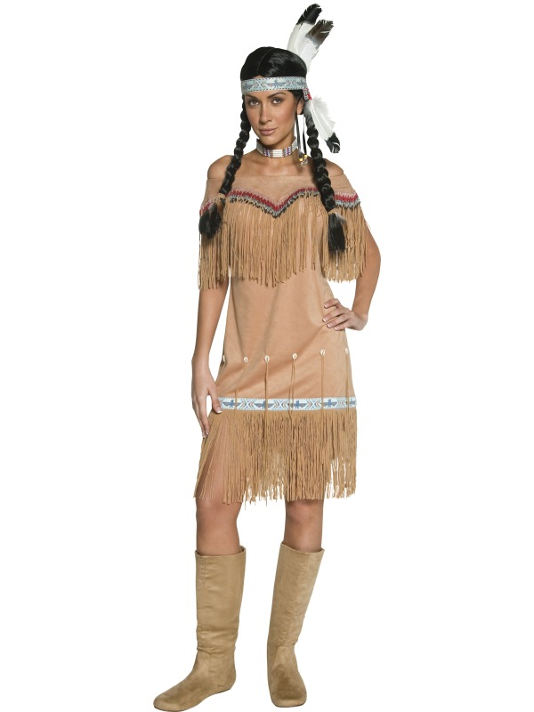 Adult Ladies Authentic Indian Squaw Costume Cowgirls And
