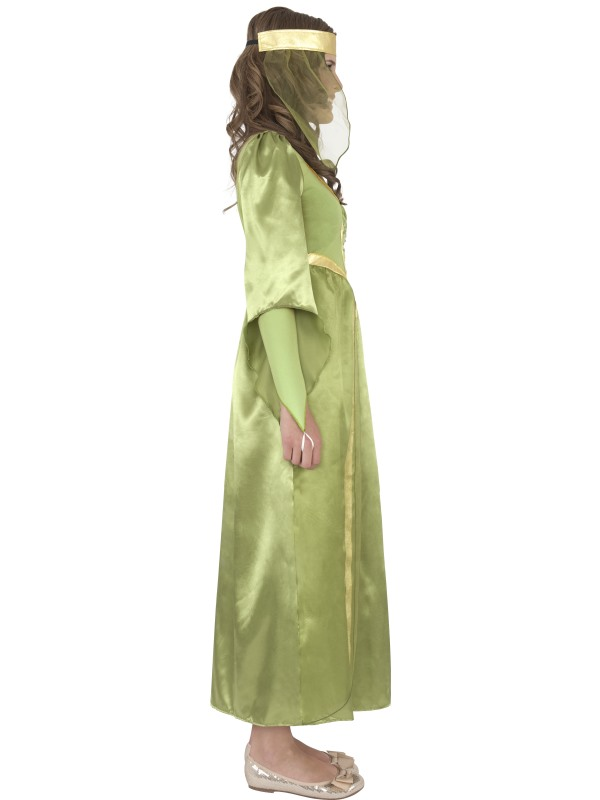 Child-Maid-Marion-Party-Outfit-New-Fancy-Dress-Costume-Medieval-Kids-Girls-BN