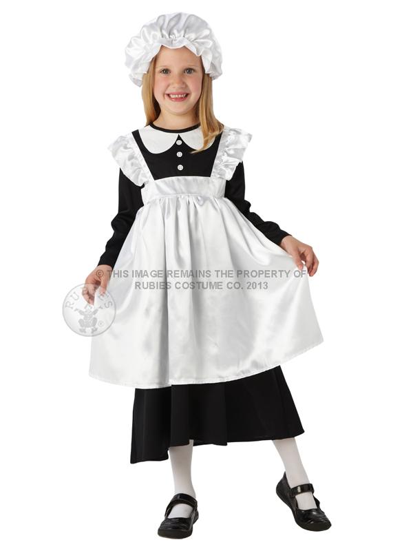 Child-Victorian-Maid-Poor-Girl-Book-Week-Fancy-Dress-Costume-Kids-Girls