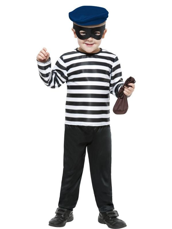 Child Little Burglar Fancy Dress Party Costume Robber Thief Kids Book Week Boys