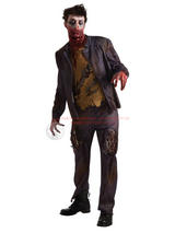 View Item Adult Zombie Walking Dead Shawn Halloween Fancy Dress Costume Shaun of the Dead