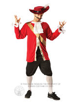 View Item Adult Disney Captain Hook Fancy Dress Costume Peter Pan Caribbean Pirate Mens