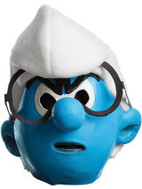View Item Adult Licensed The Smurfs 3/4 Masks Latex Fancy Dress Gnome Mens Gents Male