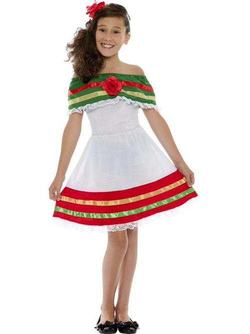 Child Mexican Girl Fancy Dress Costume Senorita Book Week Kids Spanish Fiesta Buy Online