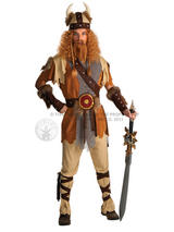 View Item Adult Viking Warrior Fancy Dress Costume Barbarian Mens Gents Male