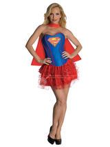 Supergirl Corset And Tutu Ladies Costume