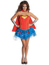 Wonder Woman Corset And Tutu Ladies Costume