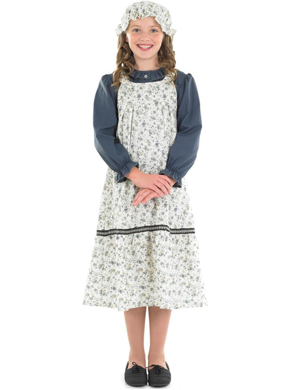 Child Victorian School Girl Outfit Fancy Dress Costume Book Week ...