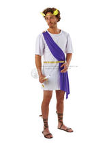View Item Adult Greek God Toga Fancy Dress Costume Rome Roman Emperor Caesar Mens Gents