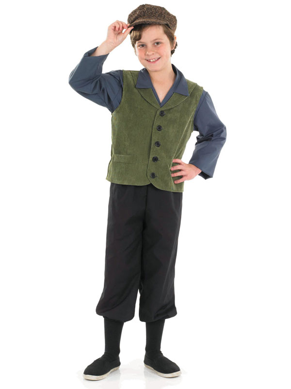 Child-Victorian-School-Boy-New-Outfit-Fancy-Dress-Costume-Book-Week-Kids-Boys