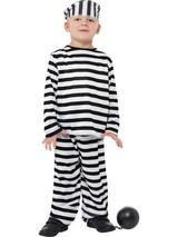 View Item Child Prisoner Boy Fancy Dress Costume Striped Convict Jail Inmate Kids Boys