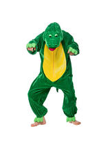 View Item Child Crocodile Fancy Dress Costume Week Alligator Dinosaur Animal Jungle Kids