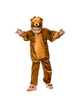 Boy's Brown Teddy Bear Jumpsuit Costume