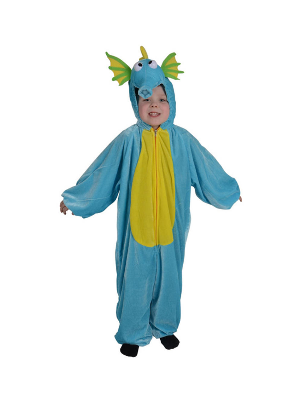 Child sea horse fancy dress costume book week sea dragon for Fish costume men