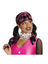 Adult Monster High Draculaura fancy dress Wig