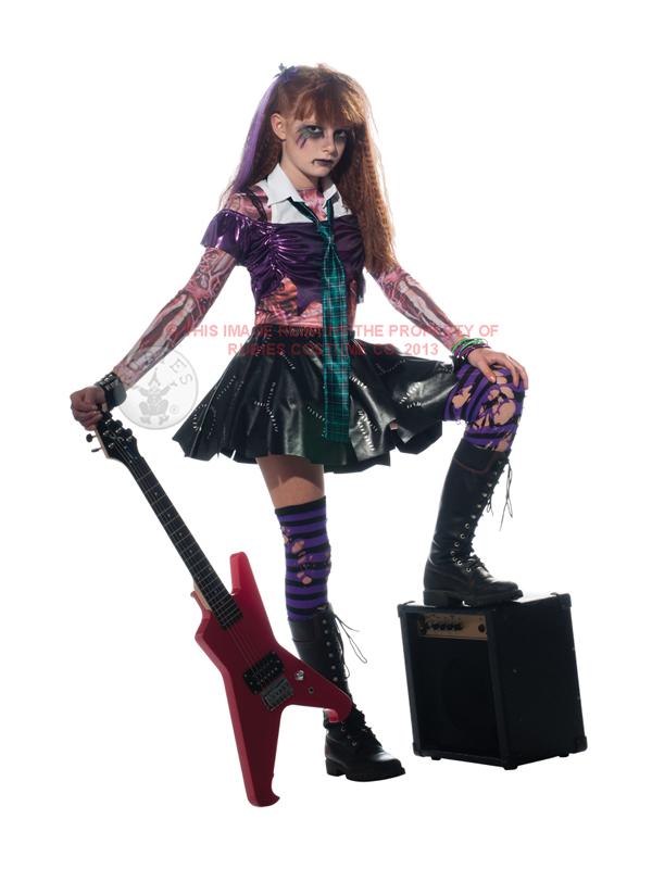 child zombie punk rocker fancy dress costume halloween
