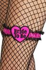 View Item Adult Bride To Be Garter, Pink With Black Lace Fancy Dress Hen Night Party