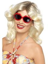View Item Adult Lips Sun Glasses Fancy Dress Shades Disco Fever Ladies Womens Female