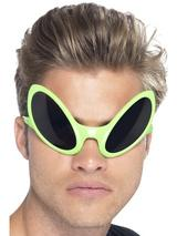 View Item Adult Alien Eye Green Fancy Dress Shades UFO Sunglasses Bug Eyes Insect