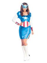 Ladies Miss Captain America Costume