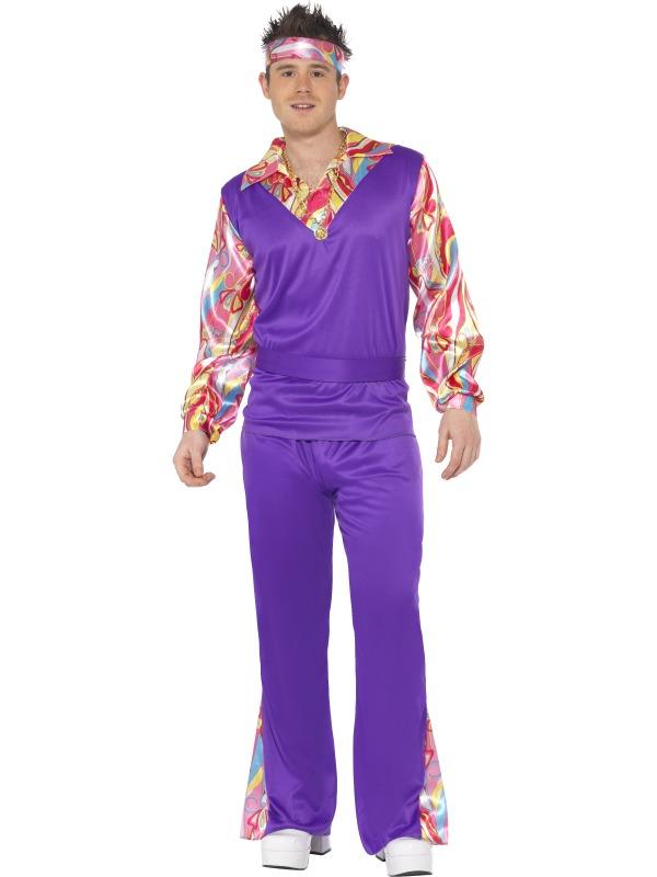 Adult-Hippy-Fancy-Dress-Costume-Groovy-1960s-1970s-Hippie-Flower-Power-Mens
