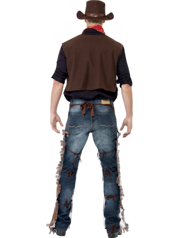 Adult-Wild-West-Rodeo-Cowboy-Mens-Fancy-Dress-Stag-Party-Costume-Sheriff-Outfit