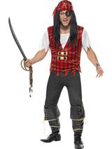 View Item Adult Medium Pirate Instant Kit Fancy Dress Costume Caribbean Jack Sparrow Mens