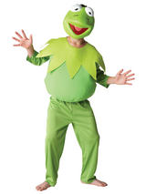 View Item Child Disney Deluxe Kermit The Frog Fancy Dress Costume Muppets Show Kids Boys