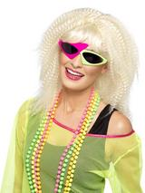 View Item Adult 80s Green And Pink Two Tone Fancy Dress Shades Ziggy David Bowie