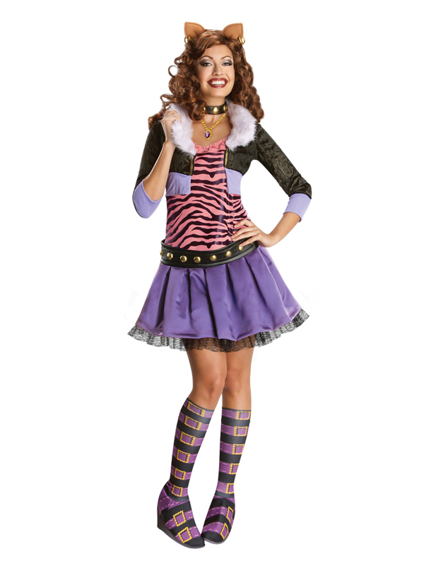 Adult monster high clawdeen wolf fancy dress costume monster high