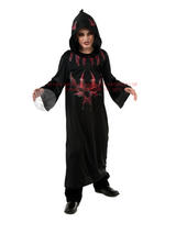View Item Child Devil Skull Hooded Robe Fancy Dress Costume Halloween Evil Priest Kids