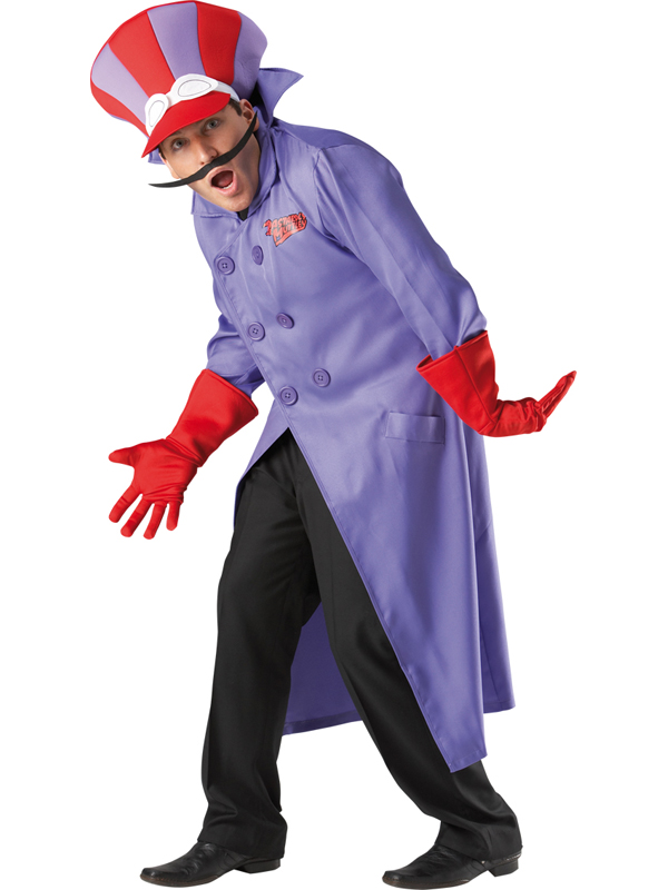 Adult-Licensed-Wacky-Races-Dick-Dastardly-Fancy-Dress-Costume-Cartoon-80s-BN