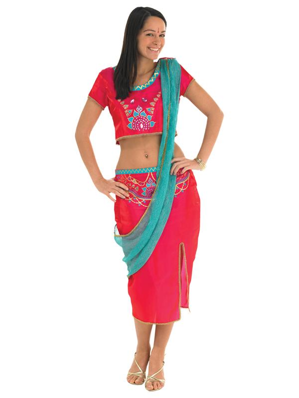 Ladies Pink Bollywood Costume