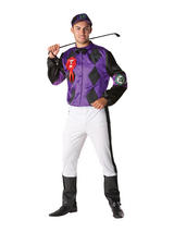 View Item Adult Male Jockey Fancy Dress Horse Racing Costume Mens Gents