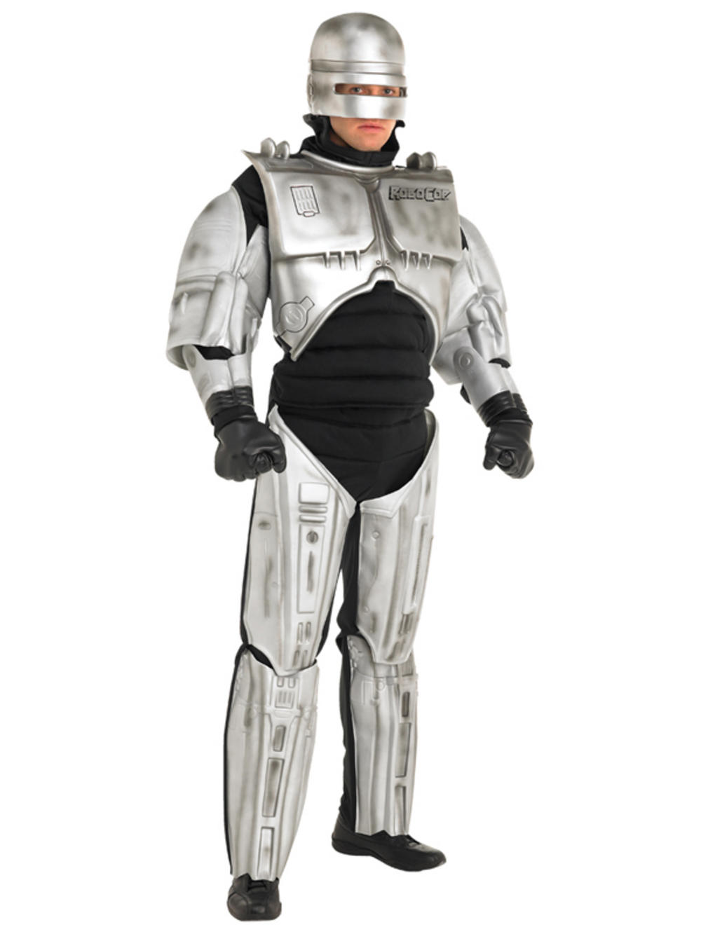 Adult Robocop Robot Cop Fancy Dress Costume Mens Gents