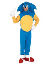 View Item Adult Sonic The Hedgehog Fancy Dress Costume Mens Gents Male