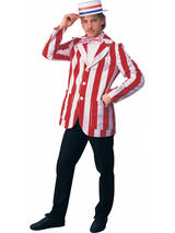 Men's Roaring 20s Red And White Blazer