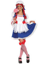 Ladies Rag Doll Yarn Costume