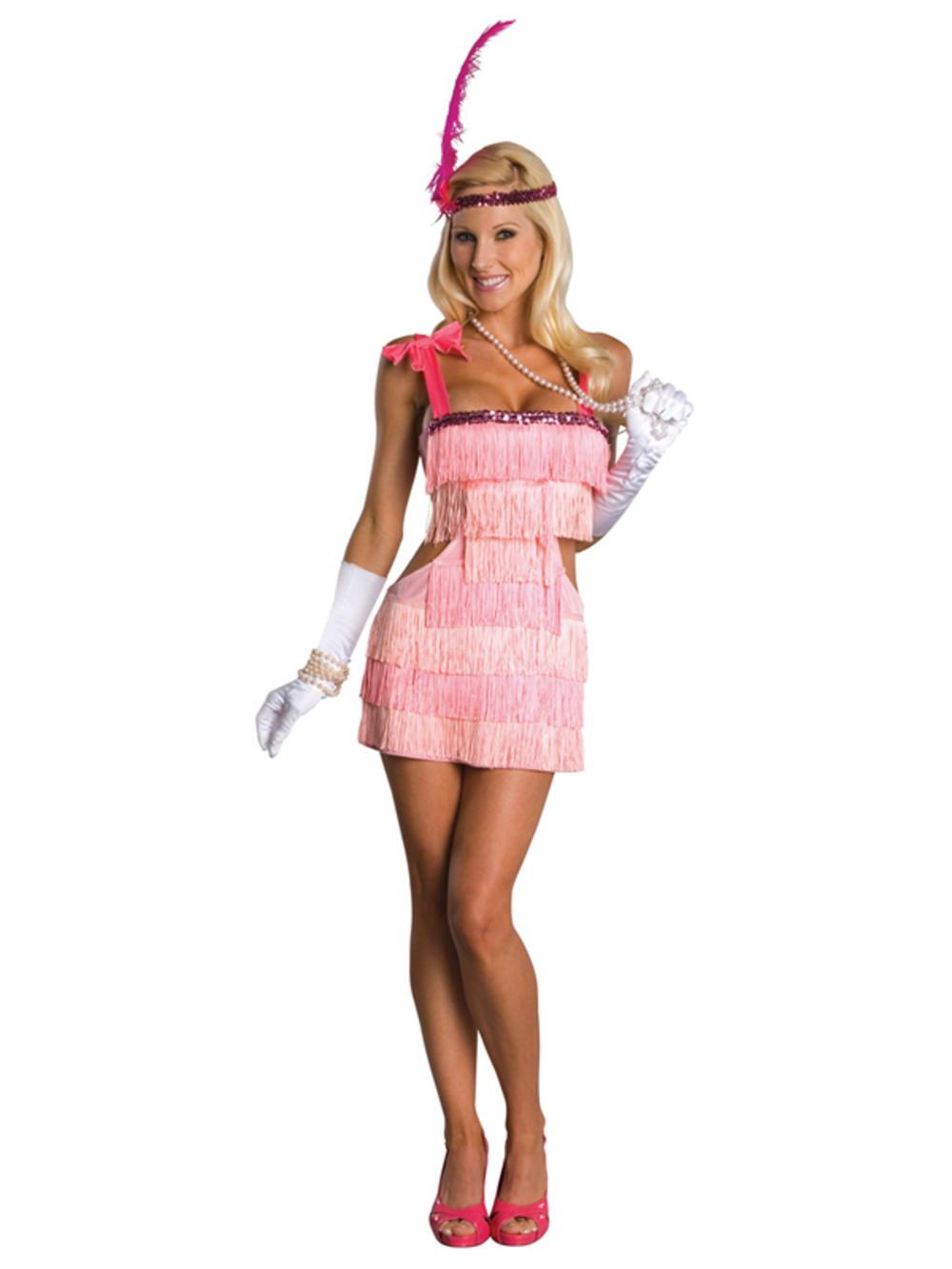 Womens 1920s flapper dress fancy dress costume adult flapper dress - Adult Pink Flapper 1920s 20s Fancy Dress Costume Ladies Womens Female