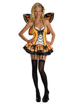Ladies Orange Butterfly Tutu Costume