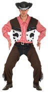 View Item Adult Cowboy Fancy Dress  Costume Indian Wild West Mens Gents Male