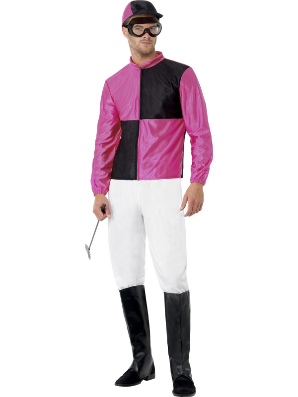 Adult Medium Jockey Costume Outfit Fancy Dress Costume Sport Horse Racing Male | eBay