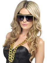 View Item 90s Ghetto Fabulous Gold Chain Sunglasses Fancy Dress