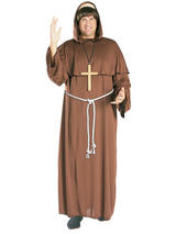 View Item Adult Friar Tuck Fancy Dress Robin Hood Costume Mens Gents Male