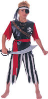 View Item Child Pirate King Kids Fancy Dress Costume Caribbean