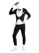 View Item Adult 2nd Skin Tuxedo Fancy Dress Butler Waiter Full Body Suit Mens Gents Male