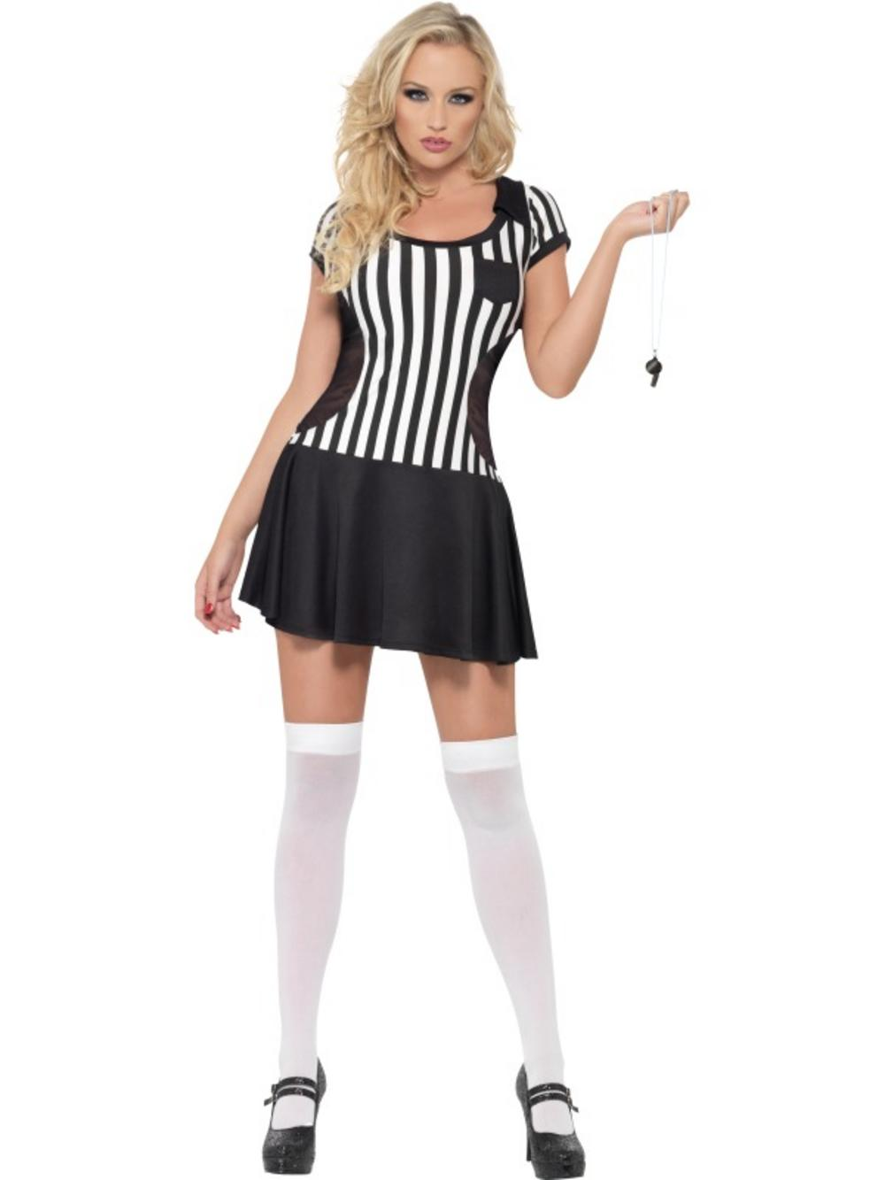 Adult Fever Sexy Referee Fancy Dress Costume Sport