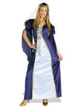 Ladies Crushed Velvet Maid Marion Costume