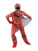 View Item Mens Disney Samurai Red Power Ranger Superhero Adult Fancy Dress Deluxe Costume